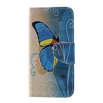 Samsung Galaxy S10 Plånboksfodral - Blue Butterfly