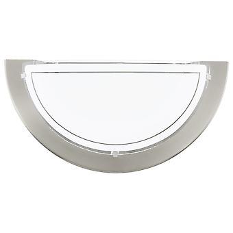 Eglo Planet 1 mur clair en Nickel satiné et verre blanc