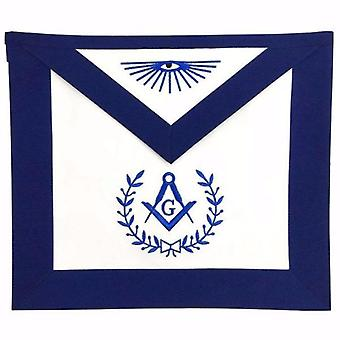 Masonic Blue Lodge Master Mason Apron Machine Embroidery Navy-Standard