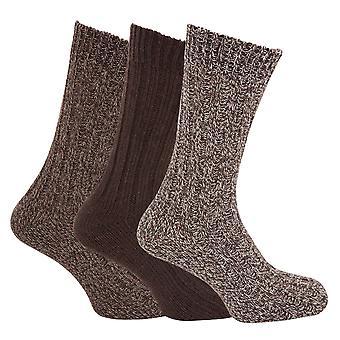 Herre Chunky Boot sokker med uld (pakke med 3)