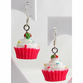Cupcake Earrings Hypoallergenic Earrings Strawberry Sprinkle Earrings