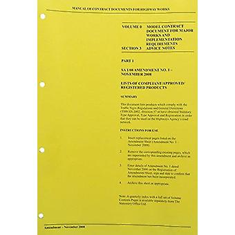 Manual of Contract Documents for Highway Works - v. 0 - Model Contract