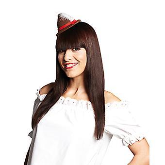 Tiroler haar clip Minihut kostuum accessoire