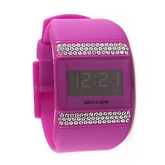 Wize and Ope Classic  Purple Digital  Watch WO-ALL-7S