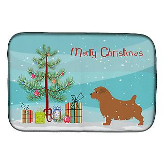 Norfolk Terrier Merry Christmas Tree Dish Secado Mat