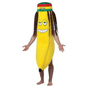 Adult Rasta Banana Novelty Food Stag Night Funny Group Fancy Dress Costume