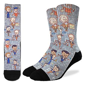 Good Luck Sock - Men's Active Fit - Famous Scientist (8-13) 4099