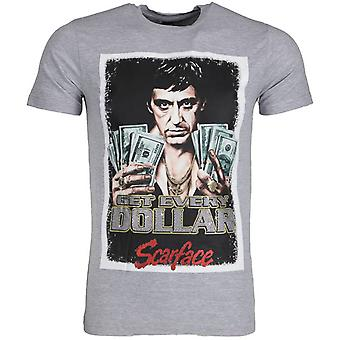 T-shirt-Scarface Get Every Dollar-Grey