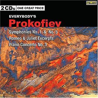 S. Prokofiev - Everybody's Prokofiev: Symphonies Nos. 1 & 5; Romeo & Juliet; Piano Concerto No. 3 [CD] USA import