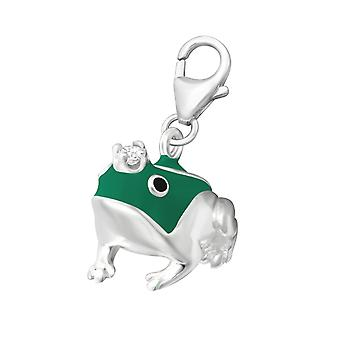 Frog - 925 Sterling Silver Charms With Lobster - W11833x
