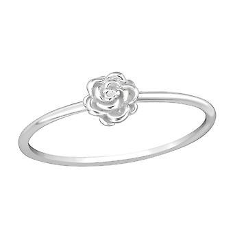 Rose - 925 Sterling Silver Plain Rings - W38948x