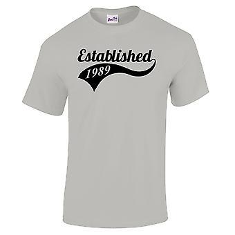 Mannen ' s 30e verjaardag T-shirt gevestigde 1989 giften voor hem