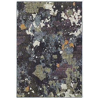 Evolution 8029a navy/ green indoor area rug rectangle 3'3