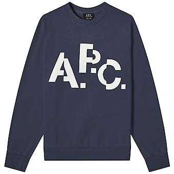 A. p. c A. P. k decale logo Tryck Sweatshirt