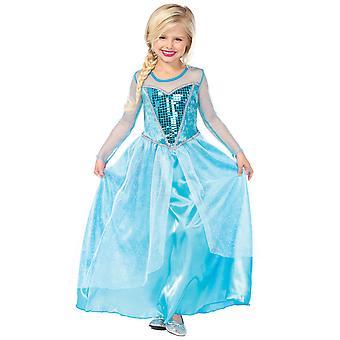 Fantasy Snow Queen Elsa of Arendelle Frozen Princess Girls Costume