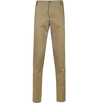 Kenzo Straight Leg Chino Trousers Beige
