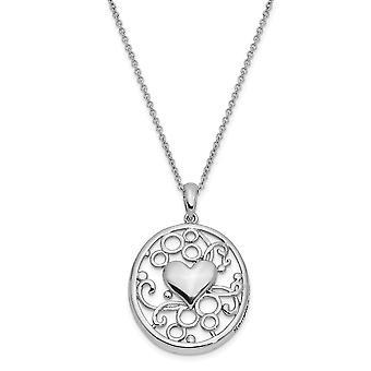 925 Sterling Silver Gepolijst Gift Boxed Spring Ring Rhodium verguld sturen u mijn liefde 18inch hart ketting sieraden Gif