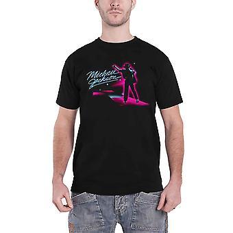 Michael Jackson T Shirt Neon Billie Jean Pose nouveau noir officiel de l'homme