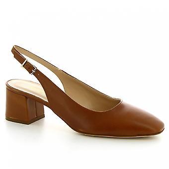 Leonardo Shoes Femmes-apos;s escarpins à talons à talons faits à la main en cuir de veau tan