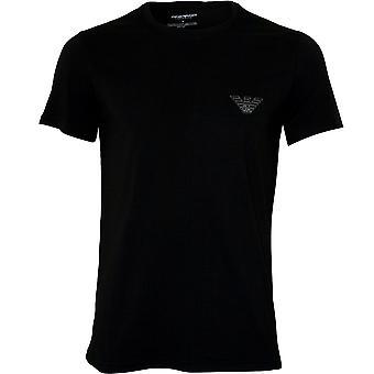 Emporio Armani Organic Cotton Eagle Logo Crew-Neck T-Shirt, Black