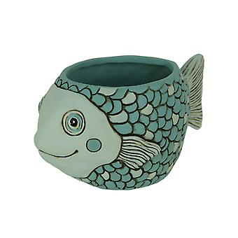 Allen Designs harts blå baby Fish planter