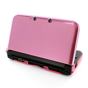Polycarbonate armor crystal case for nintendo 3ds xl - pink clear