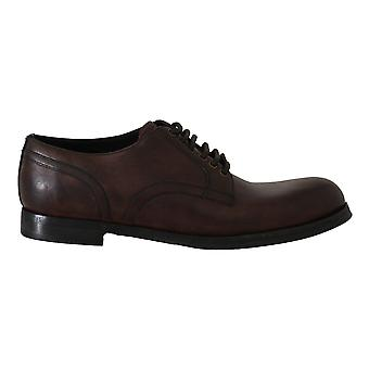 Brown Leather Laceups Derby Laceups Shoes