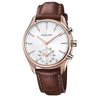 Kronaby S2746-1 Men's Sekel Smartwatch Brown Strap
