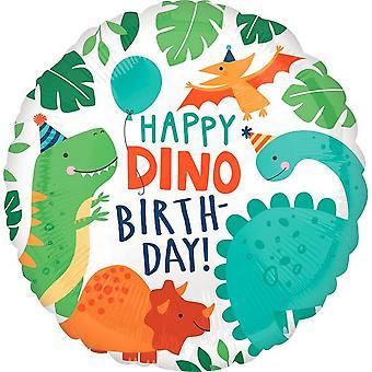 Balão de aniversário do dinomite do círculo de Anagram