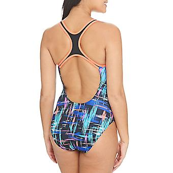 Zoggs Mulheres Predador Bound Rowleeback Swim Pool Swimsuit Costume Multi