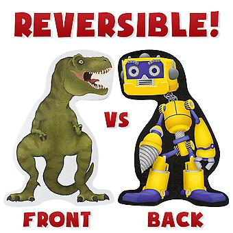 Dinosaurier vs. Roboter 48 Stück Doppelseitige Boden Puzzle - 3 ft