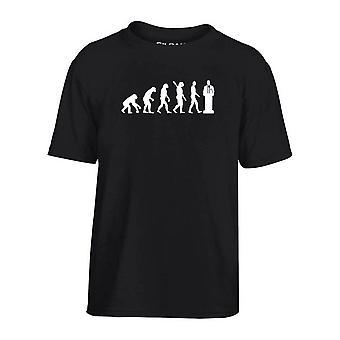 T-shirt bambino nero dec0113 evoluzione politico