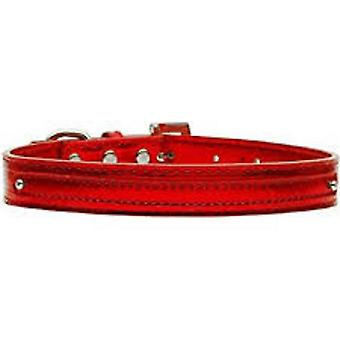 Red Leather Dog Collar matching Lead Set
