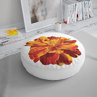 Almofada do assoalho de Meesoz - flor amarela vermelha
