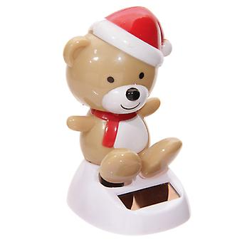 Weihnachten Teddy Bear Solar Powered Flip Flaps