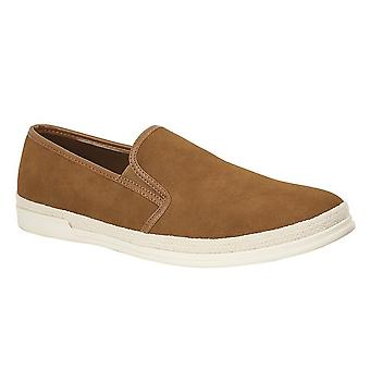 Route 21 Mens Faux Suede Twin Gusset Casual Shoe