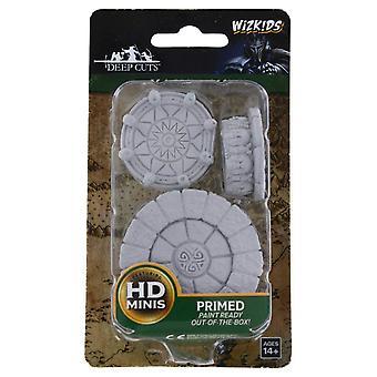 WizKids Deep Cuts Unpainted Miniatures Magic Dais (Pack of 6)