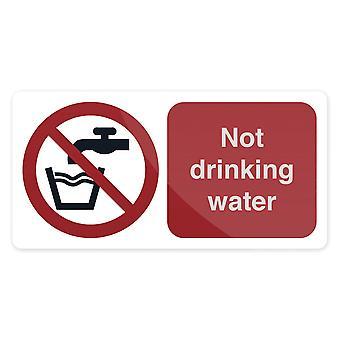 Geen drink water teken-75x150mm zelfklevend