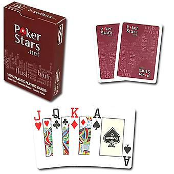 PokerStars Playing cards-100% plastic-red