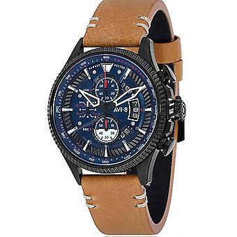Watch AVI-8 AV-4064-01 - Hawker Hunter Bracelet brown leather man