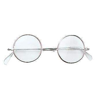 Bristol Novelty Lennon Glasses Clear/gold Frame