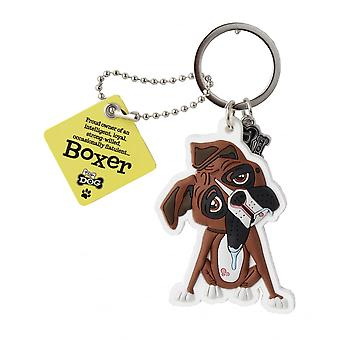 Wags & Whiskers Keyring - Boxer