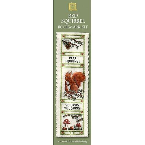 Textile Heritage Counted Cross Stitch Bookmark - Red Squirrel