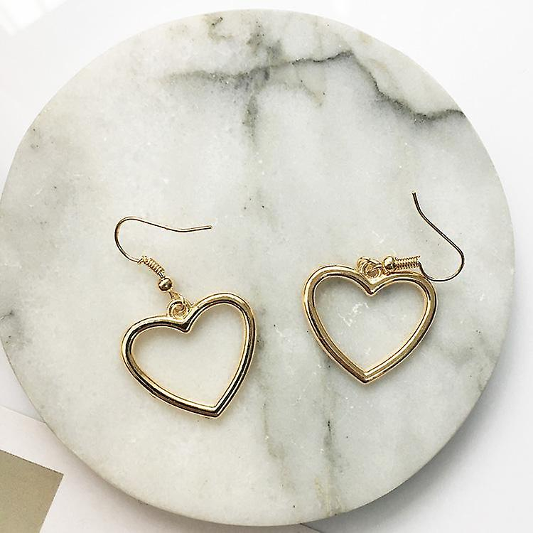 Gold Heart Drop Earrings for all Occasions
