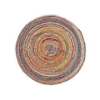 Chindi Jute Indian Design Recycled Floor Rug Round Medium