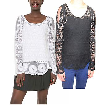 Desigual par L Women-apos;s Ieja Embroidered Long Sleeve Blouse