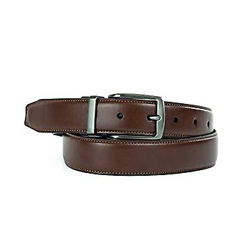 Dockers Men's Reversible Casual Dress Belt With, Cognac/Black/Brown, Size Medium