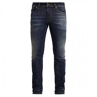 Дизель Томмер Tinted Blue distressed джинсовые джинсы 0096U
