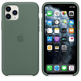 Original pakket MWYP2ZM / En Apple silikon mikrofiber deksel etui for iPhone 11 Pro - furu grønn