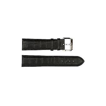 Authentic hugo boss watch strap black crocodile grain 22mm hb1401142369